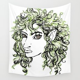 Female elf profile 1 Wall Tapestry