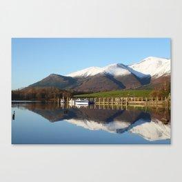 Derwentwater winter scene Canvas Print