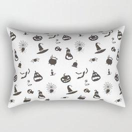 Halloween pattern with pumpkins and bats Rectangular Pillow
