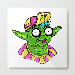 Fruity Yoda Metal Print