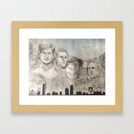 New England Mount Rushmore Framed Art Print
