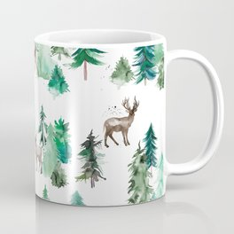 Deers and Forest Trees Coffee Mug