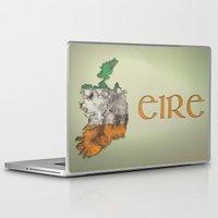 ruben ireland Laptop & iPad Skins featuring Eire / Ireland by Dandy Octopus