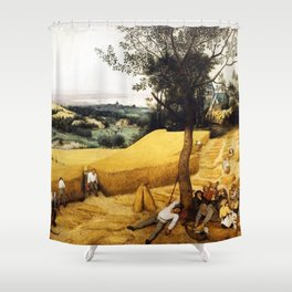 The Harvesters Painting by Pieter Bruegel the Elder Shower Curtain
