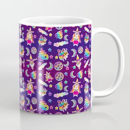 1997 Neon Rainbow Occult Sticker Collection Coffee Mug