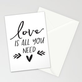 DIGITAL FILE - Love Is All You Need - Wedding Sign -  Printable Stationery Cards