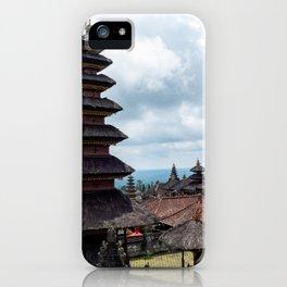 Besakih Temple in Bali iPhone Case