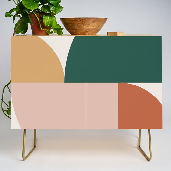 Abstract Geometric 11 Credenza