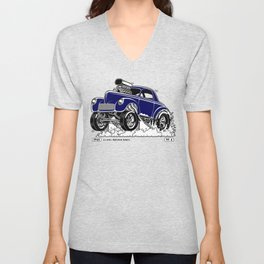 1941 WILLYS Classic Rodder - Blue Unisex V-Neck