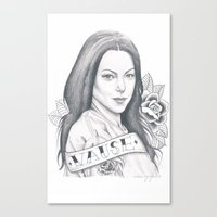 alex vause Canvas Prints featuring Alex Vause by Melina Espinoza