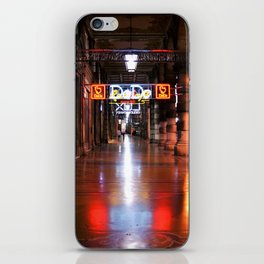 Awaken nights and empty city lights iPhone Skin