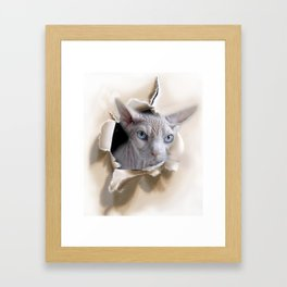 I see you. Framed Art Print