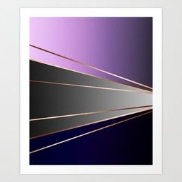 Purple, gray, black, dark blue. Art Print