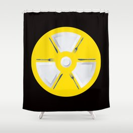 Polluted - Dinner Time Symbol Shower Curtain