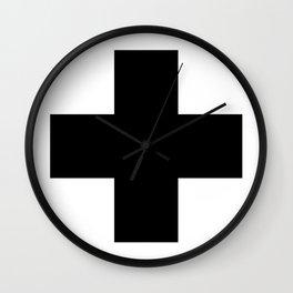 + No. 2 -- Black Wall Clock
