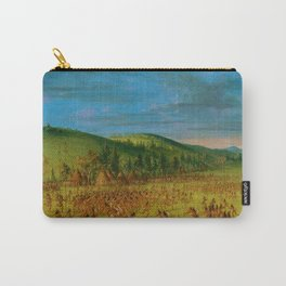 Classical Masterpiece 'Ball play of the Choctaw' by George Catlin Carry-All Pouch