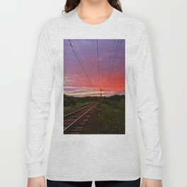 Northern sunset at white night Long Sleeve T-shirt