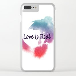 Love Is Real Clear iPhone Case