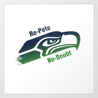 seahawks Art Prints featuring Re-Pete Seahawks! by CSL2