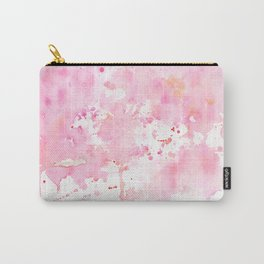 Watercolor Abstract Cherry Tree Pink Carry-All Pouch