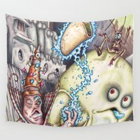 poker Wall Tapestries featuring Hocus Poker by Andy Hopp