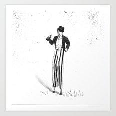 Stilt Walker Art Print