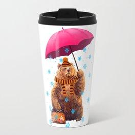 Winter bear Travel Mug