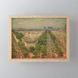 Avenue De Champs Elysees in Paris Framed Mini Art Print