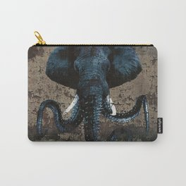Spray Paint - Morphed Elephant Carry-All Pouch