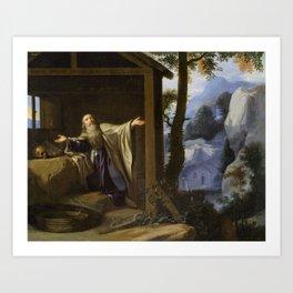 Philippe de Champaigne - Saint Arsenius Leaving the World Art Print