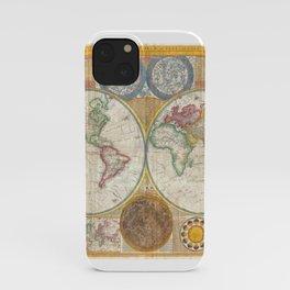 1794 Vintage World Map Samuel Dunn iPhone Case