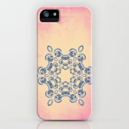 Lacey design on pink iPhone Case