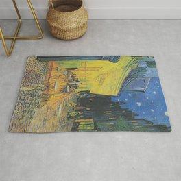 Cafe Terrace at Night,  Vincent van Gogh Rug