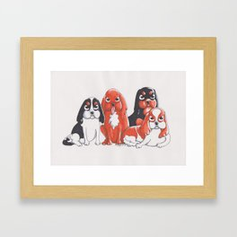 Cavalier King Charles Spaniels Framed Art Print