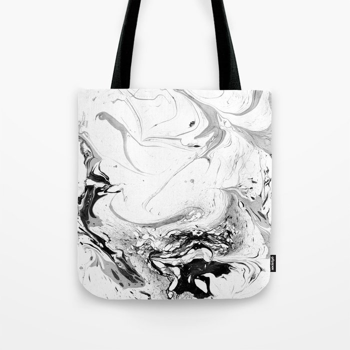 // MARBLED WHITE // Tote Bag