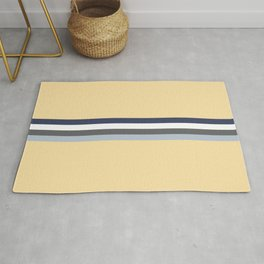 Minimal Abstract Grey Stripes On Beige - Drow Rug