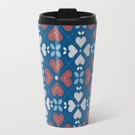 Cross My Heart Pattern Travel Mug