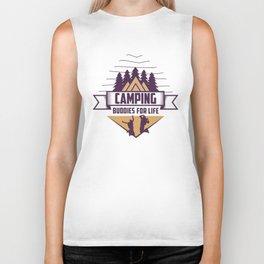 Camping Buddies For Life Shirt Funny outdoor shirt vintage Camping life Funny Gift ideas For Friends Biker Tank
