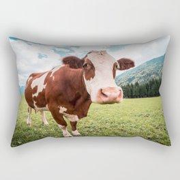 funny farmer cow Rectangular Pillow