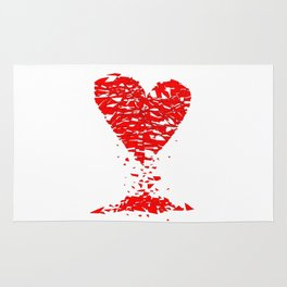 Shattered Lovers Heart Rug