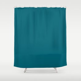 Jacksonville Football Team Teal Green Blue Solid Mix and Match Colors Shower Curtain