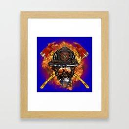 Firefighter rescue volunteer Framed Art Print