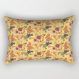 Maximalist - floral - yellow Rectangular Pillow