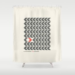 All backfroward - You frontward Shower Curtain
