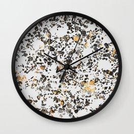 Gold Speckled Terrazzo Wall Clock