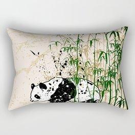 Abstract panda in bamboo forest Rectangular Pillow