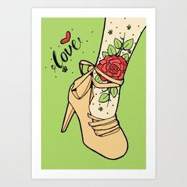 Tattoo Shoe Art Print