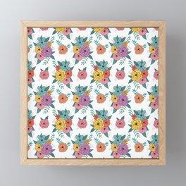Gouache floral Framed Mini Art Print