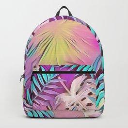 BIRD OF PARADISE Leaf Overlay #society6 #tropical Backpack