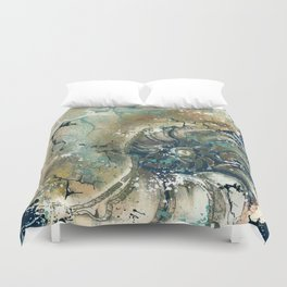 Nautical Nautilus Duvet Cover